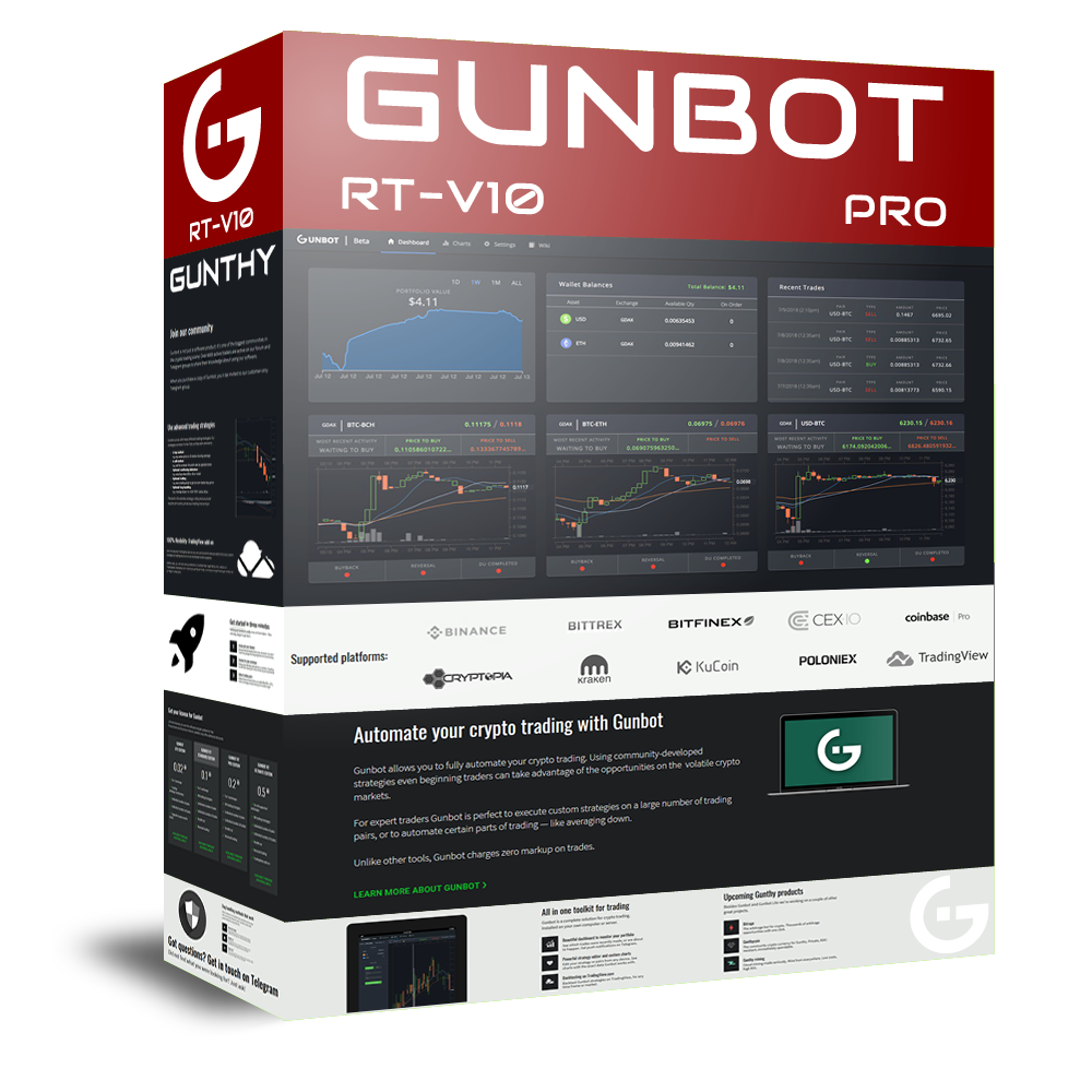 Gunbot v10 7 2 stable release changelog and download links