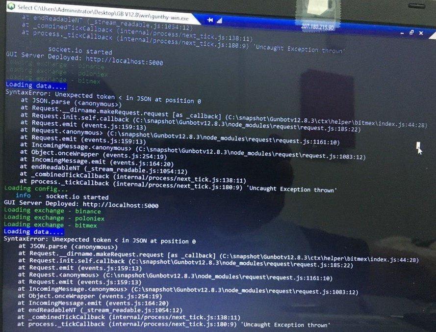 Unexpected token error on Gunbot – How to fix – WDS Media
